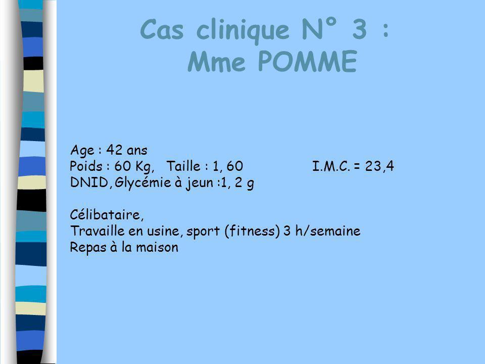 Cas clinique N° 3 : Mme POMME Age : 42 ans