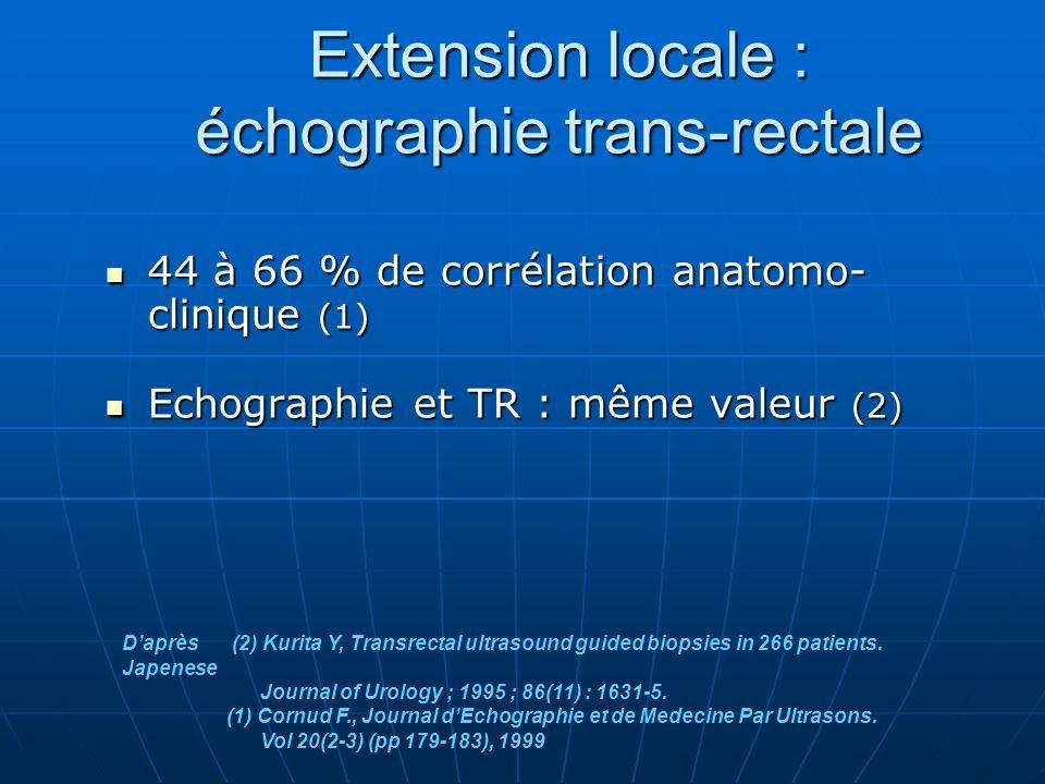 Extension locale : échographie trans-rectale