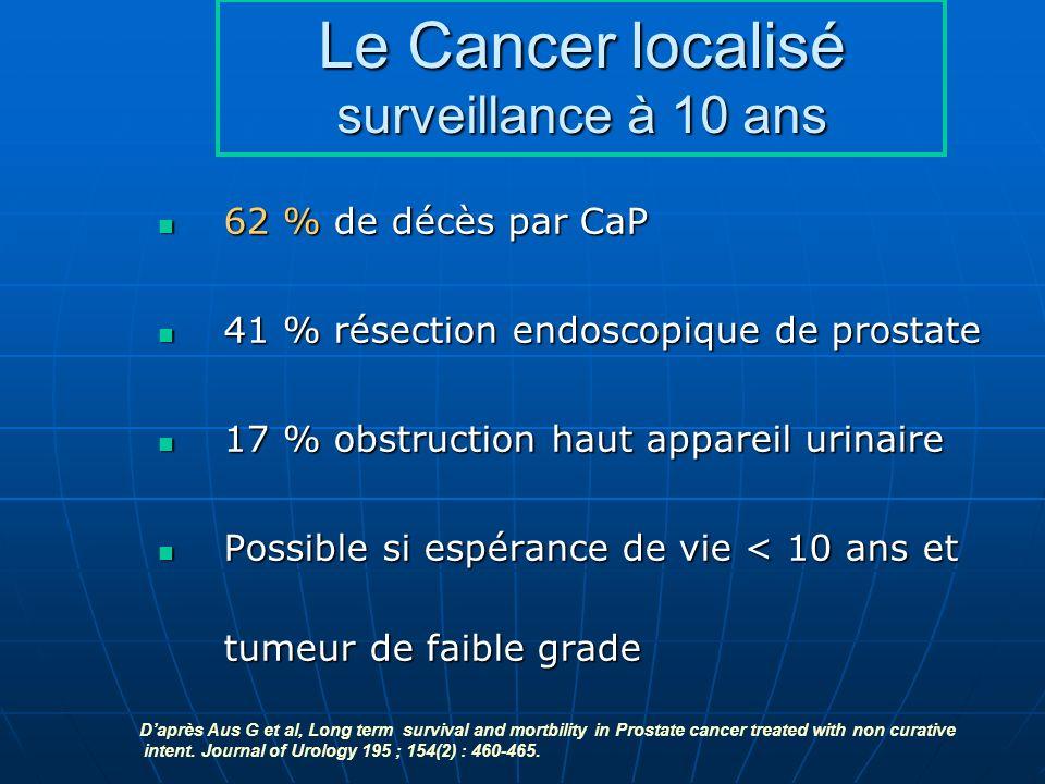 Le Cancer localisé surveillance à 10 ans