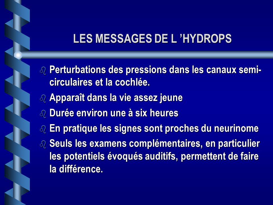 LES MESSAGES DE L 'HYDROPS