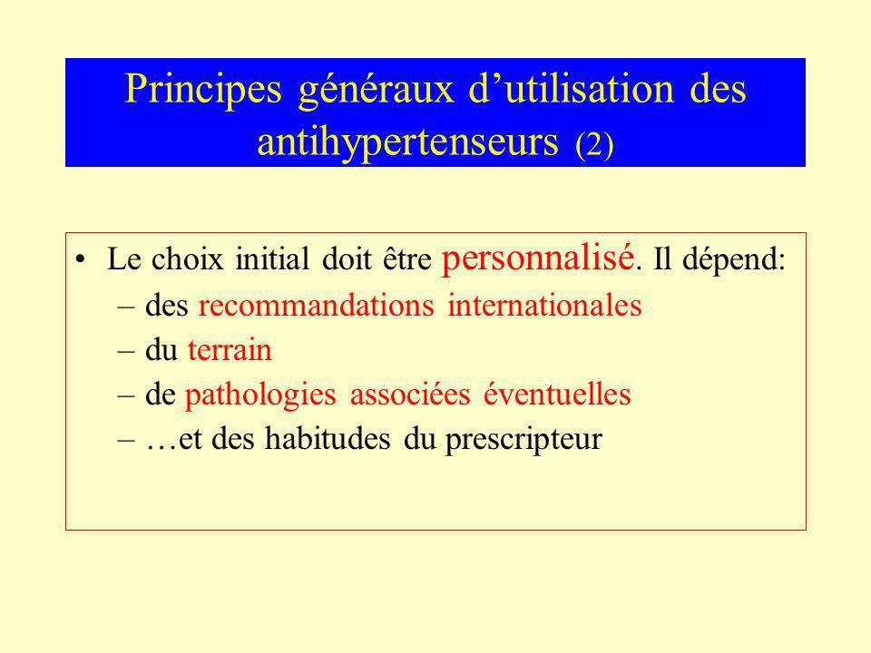 Principes généraux d'utilisation des antihypertenseurs (2)
