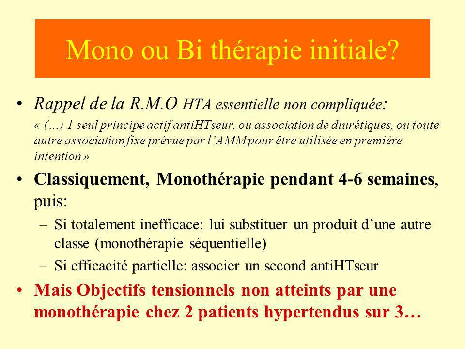 Mono ou Bi thérapie initiale