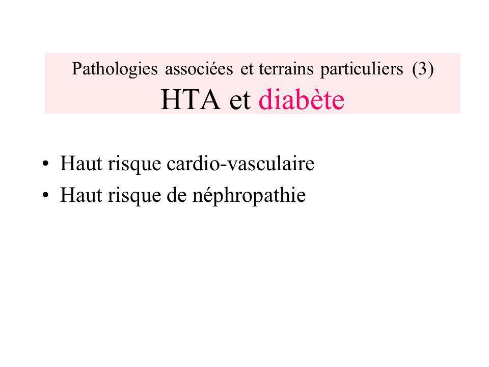 Pathologies associées et terrains particuliers (3) HTA et diabète
