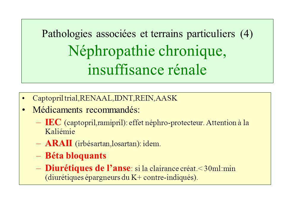 Pathologies associées et terrains particuliers (4) Néphropathie chronique, insuffisance rénale