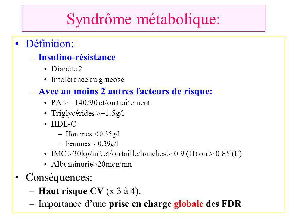 Syndrôme métabolique: