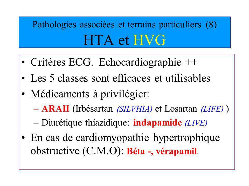 Pathologies associées et terrains particuliers (8) HTA et HVG