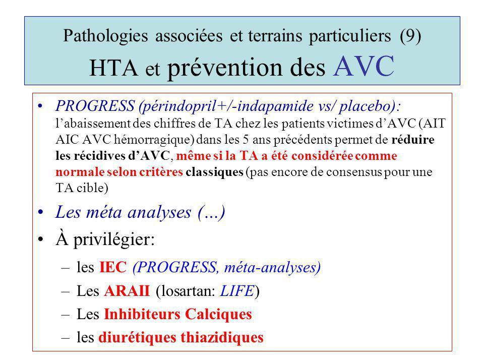 Pathologies associées et terrains particuliers (9) HTA et prévention des AVC