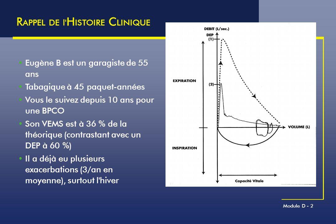 RAPPEL DE l HISTOIRE CLINIQUE