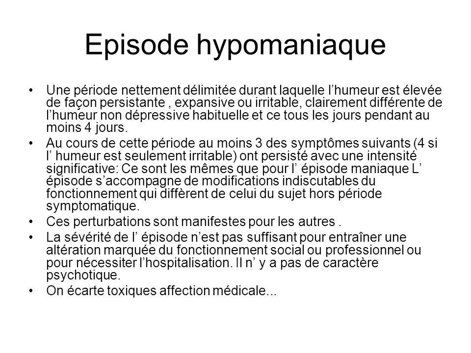 Episode hypomaniaque