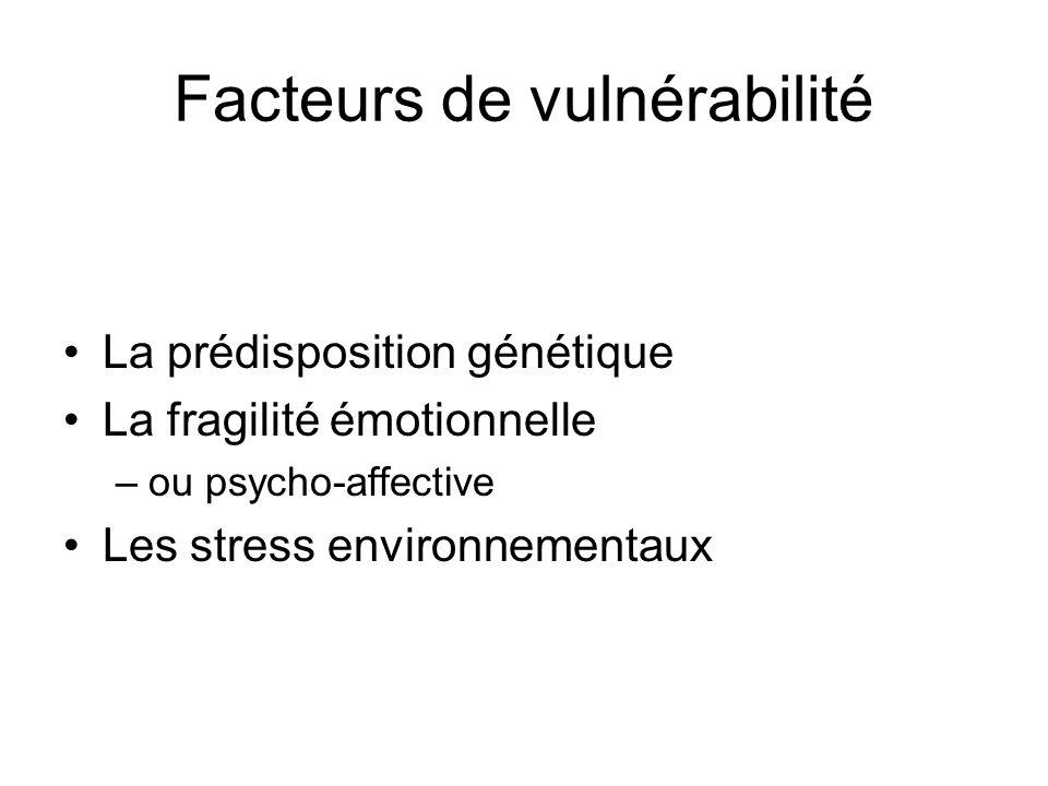 Facteurs de vulnérabilité