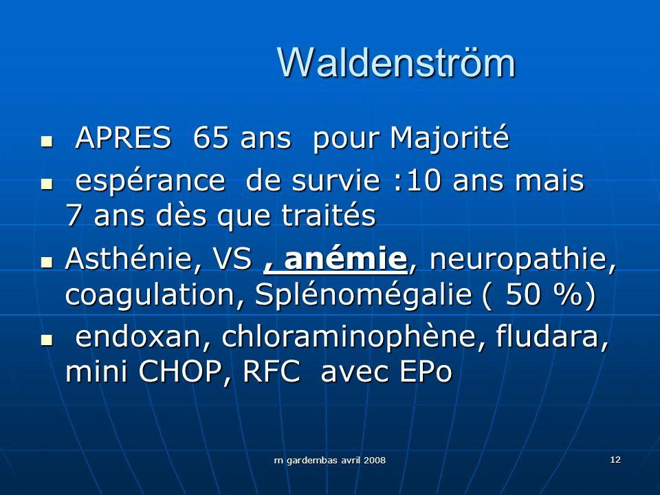 Waldenström APRES 65 ans pour Majorité