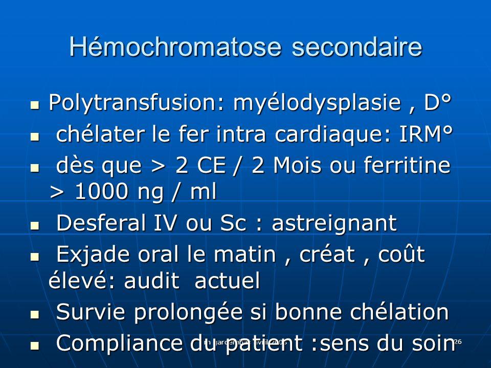 Hémochromatose secondaire
