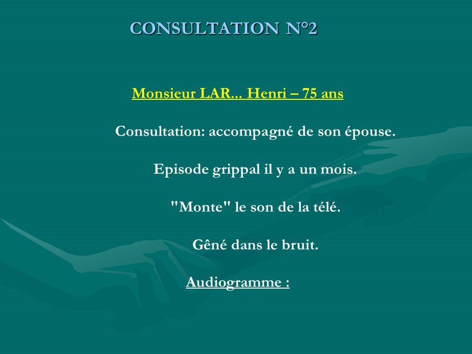 CONSULTATION N°2 Monsieur LAR... Henri – 75 ans