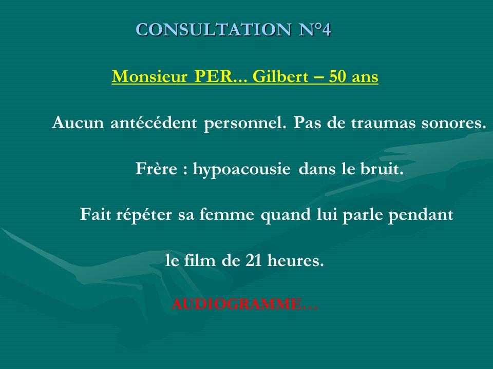 Monsieur PER... Gilbert – 50 ans