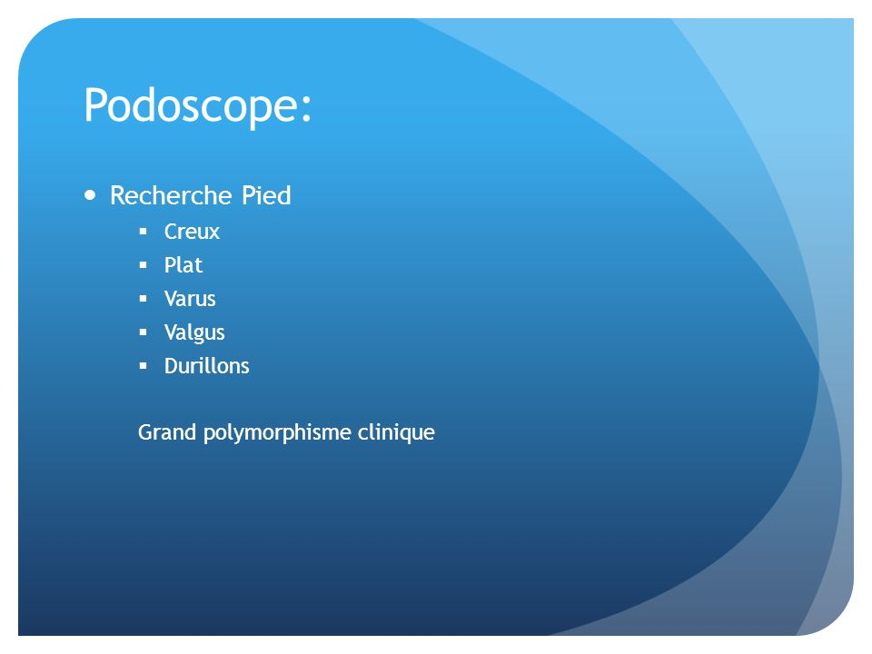 Podoscope: Recherche Pied Creux Plat Varus Valgus Durillons