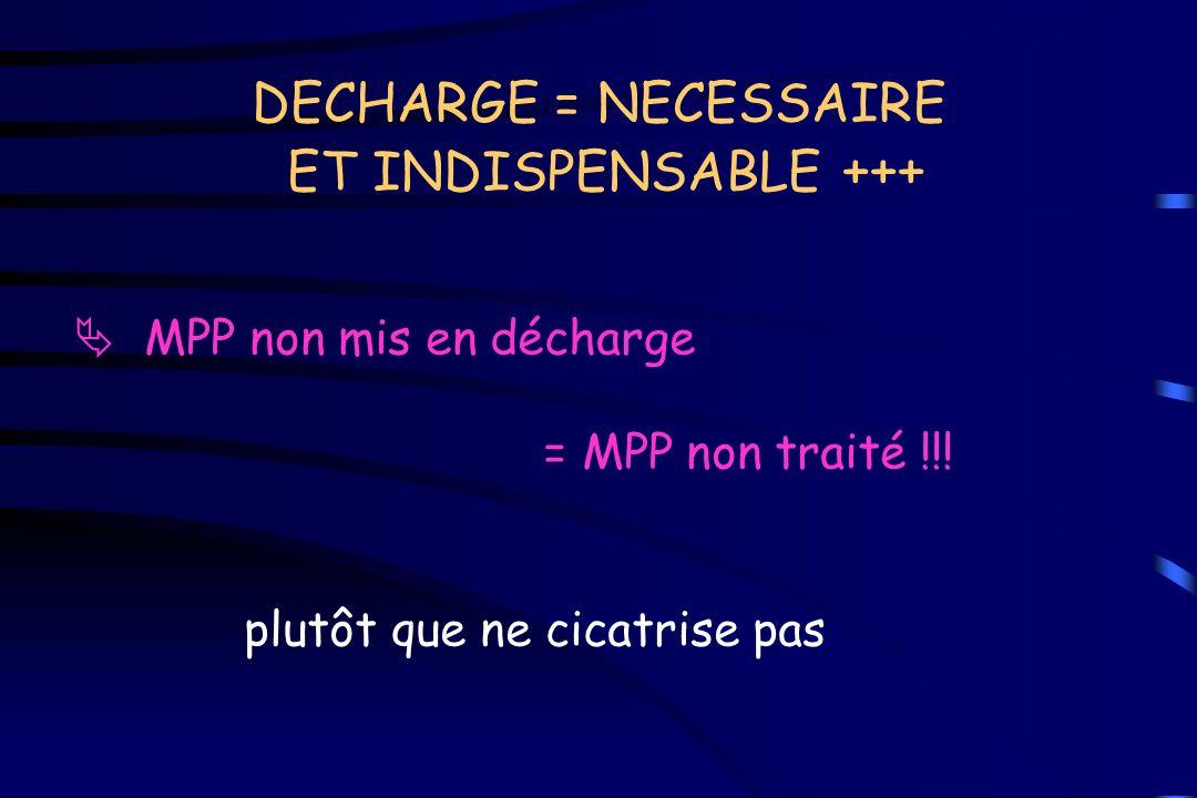 DECHARGE = NECESSAIRE ET INDISPENSABLE +++