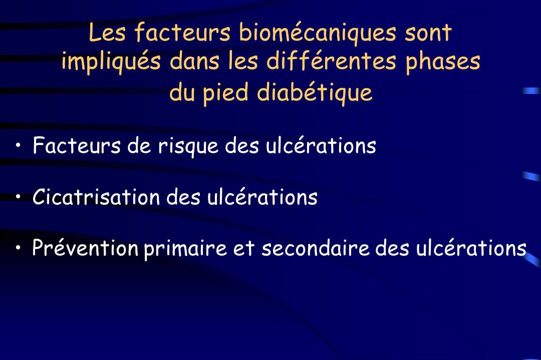 Les facteurs biomécaniques sont impliqués dans les différentes phases du pied diabétique