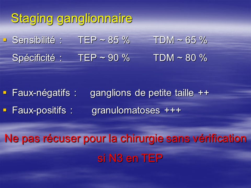 Staging ganglionnaire