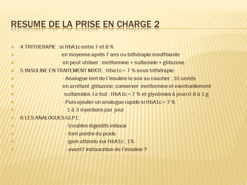 RESUME DE LA PRISE EN CHARGE 2