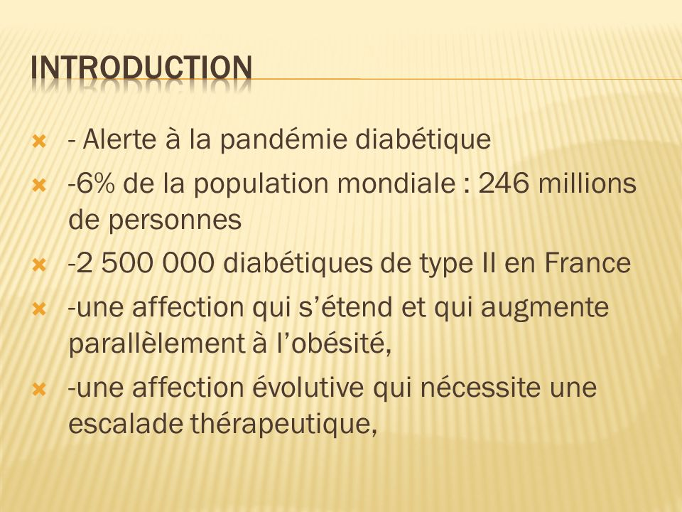 introduction - Alerte à la pandémie diabétique