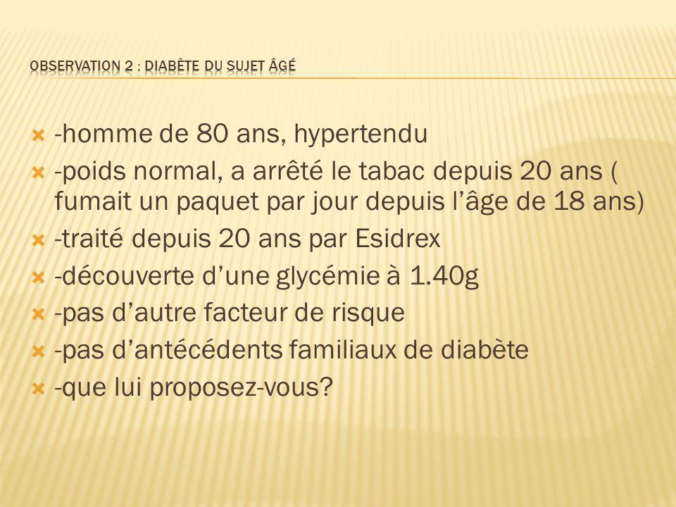 Observation 2 : diabète du sujet âgé