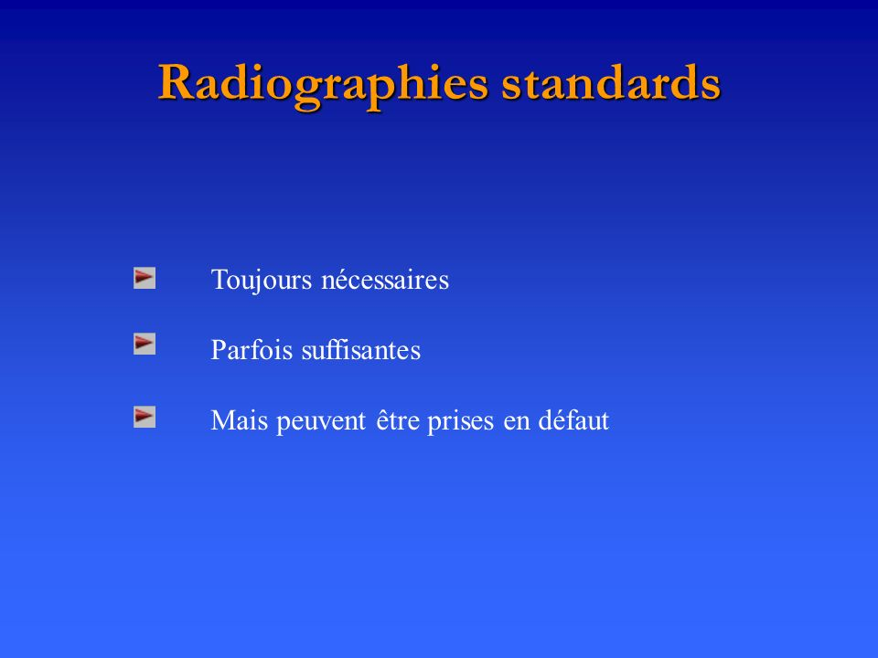 Radiographies standards