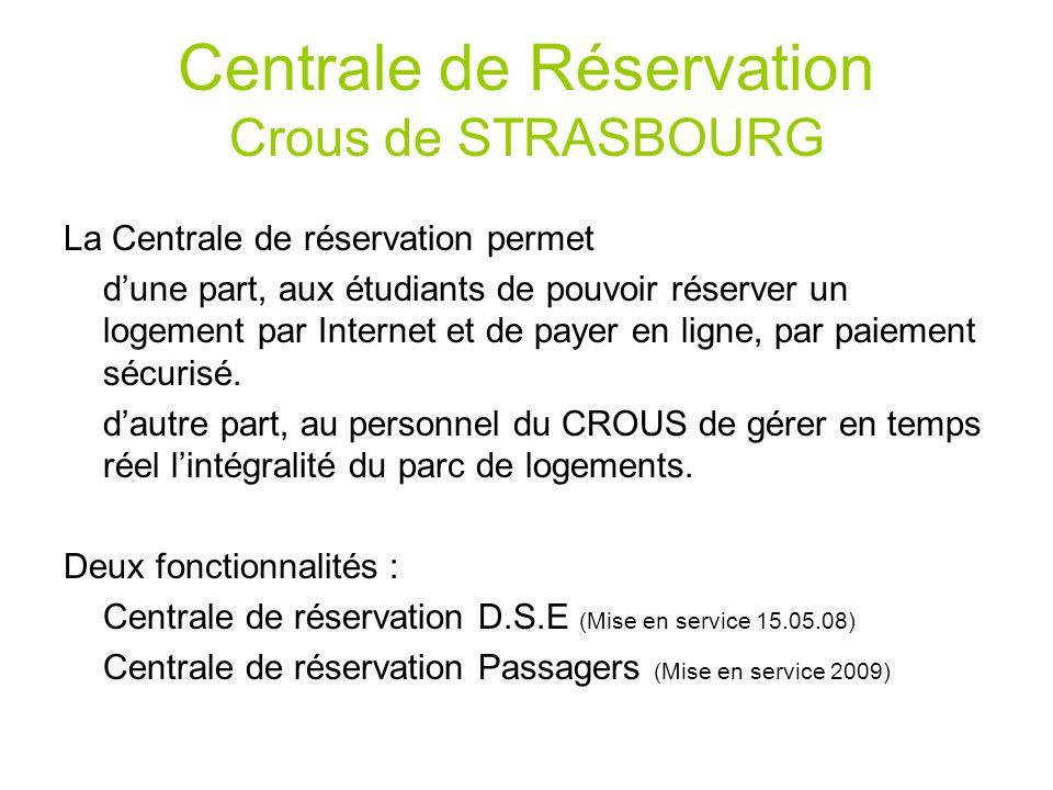 Centrale de r servation crous de strasbourg ppt t l charger for Reserver hotel et payer en ligne