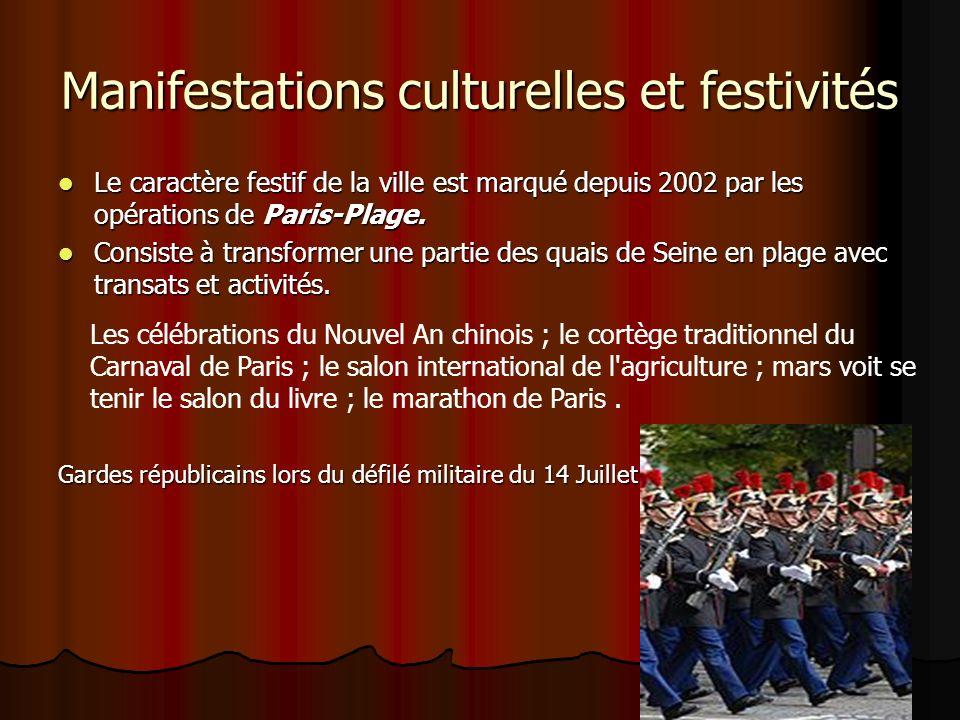 Manifestations culturelles et festivités