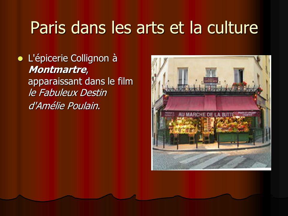 Paris dans les arts et la culture