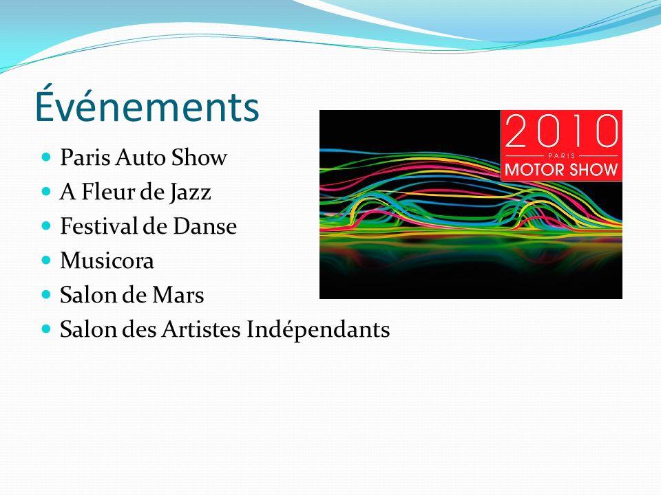 Événements Paris Auto Show A Fleur de Jazz Festival de Danse Musicora