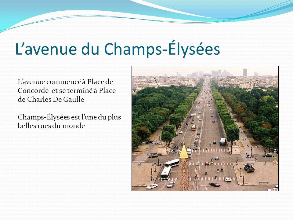 L'avenue du Champs-Élysées