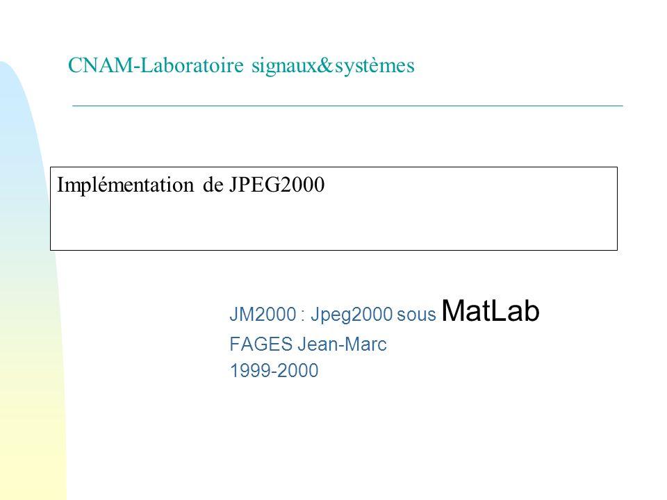 Implémentation de JPEG2000