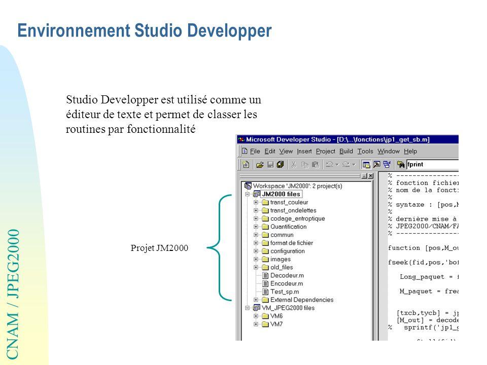 Environnement Studio Developper