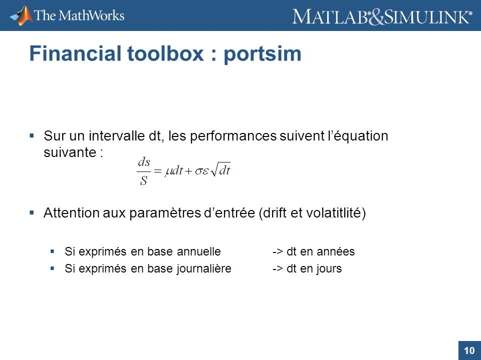 Financial toolbox : portsim