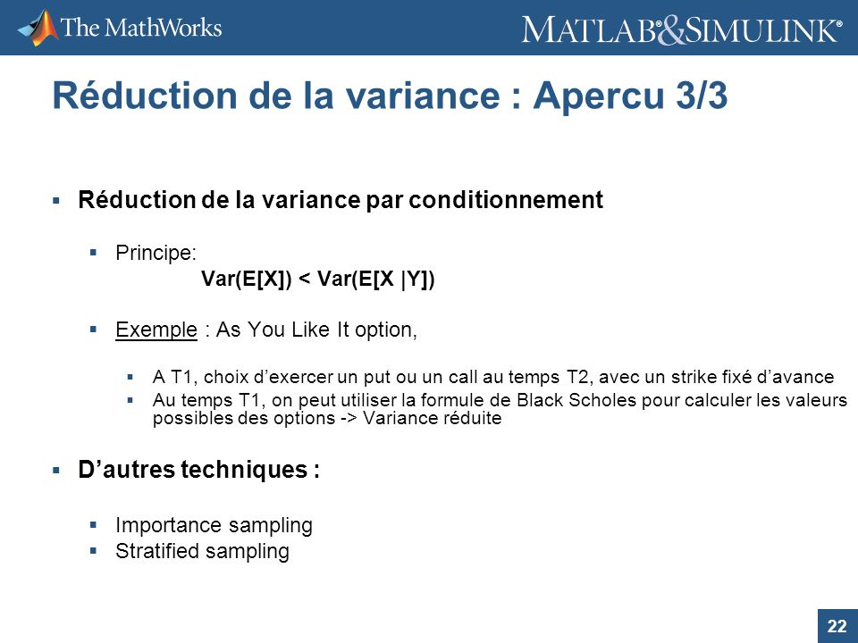 Réduction de la variance : Apercu 3/3