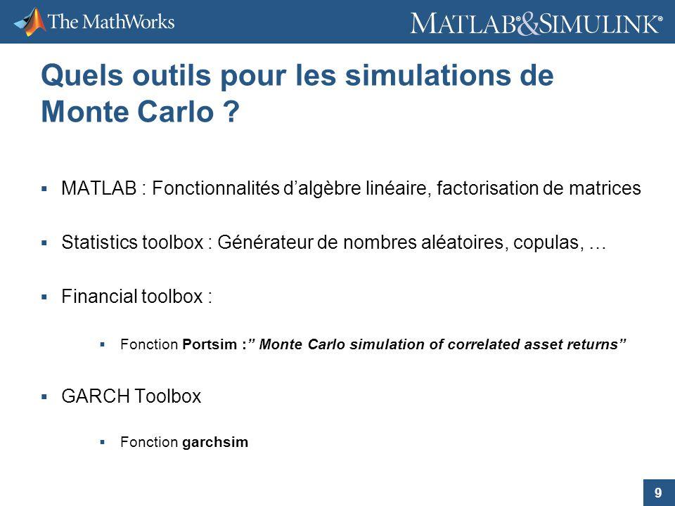 Quels outils pour les simulations de Monte Carlo