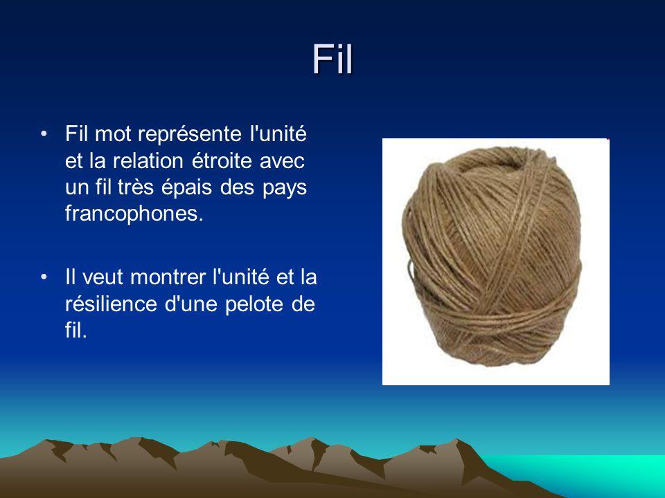 Fil Fil mot représente l unité et la relation étroite avec un fil très épais des pays francophones.