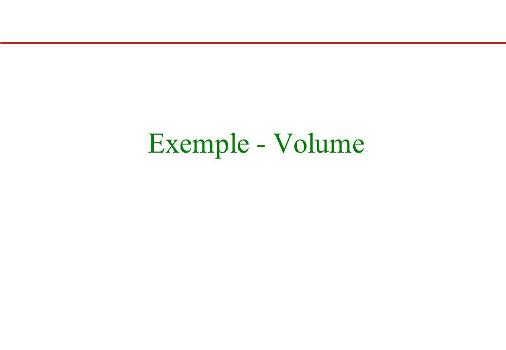 Exemple - Volume