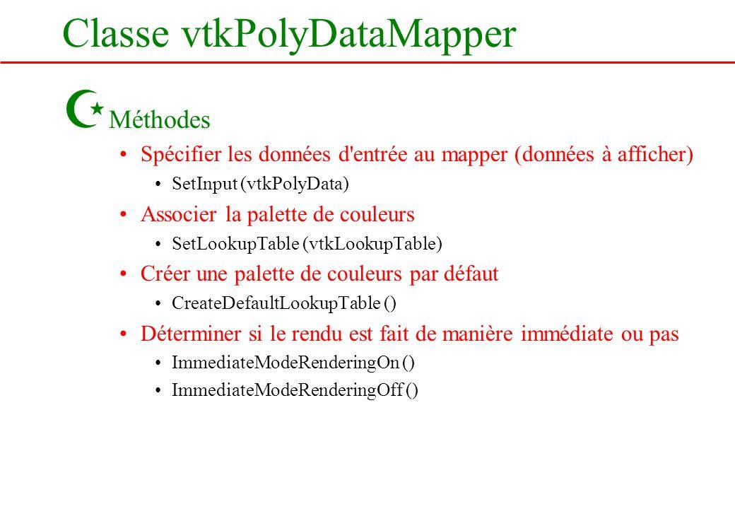 Classe vtkPolyDataMapper