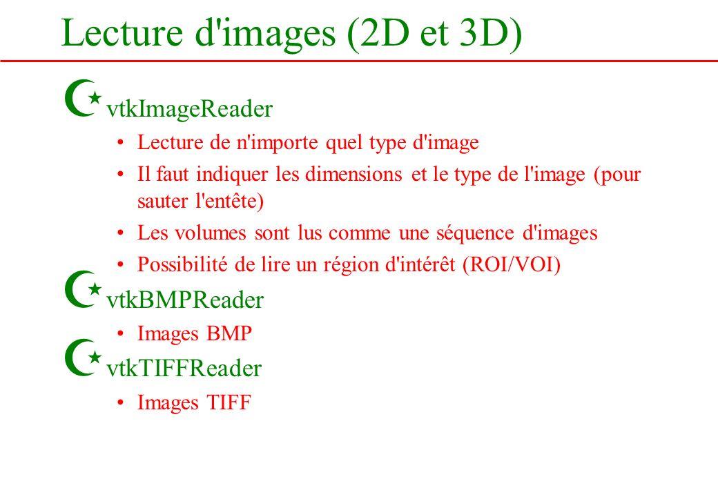 Lecture d images (2D et 3D)