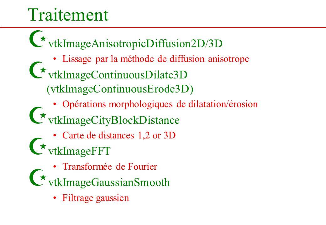 Traitement vtkImageAnisotropicDiffusion2D/3D