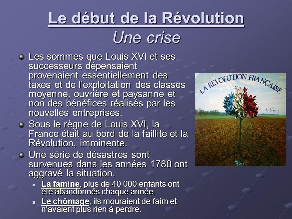 Le début de la Révolution Une crise