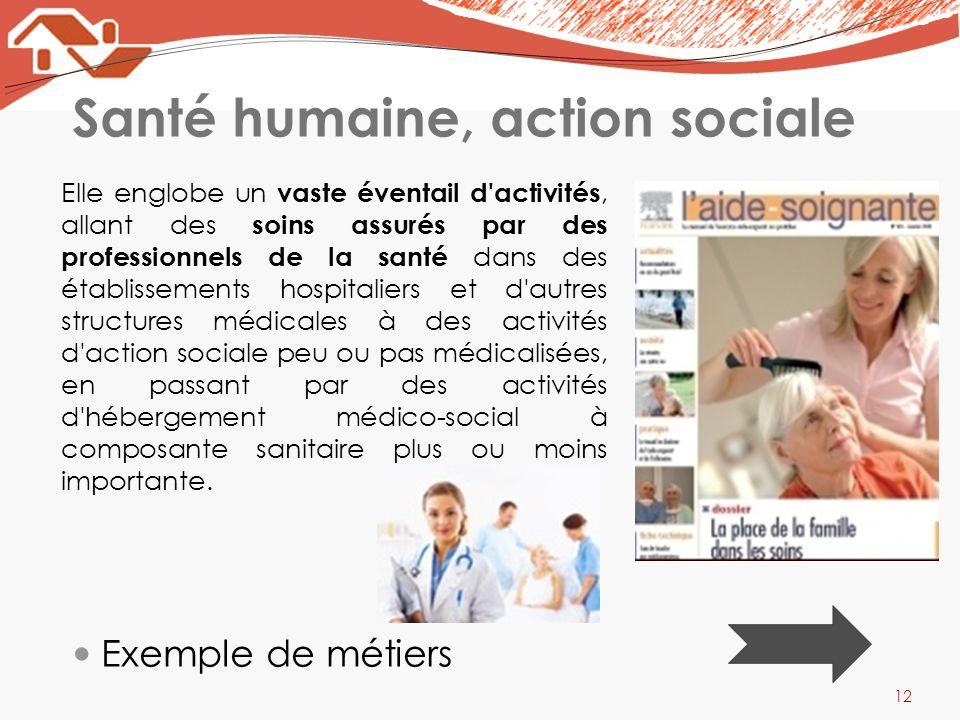 Santé humaine, action sociale