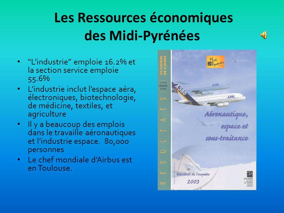 Les Ressources économiques des Midi-Pyrénées