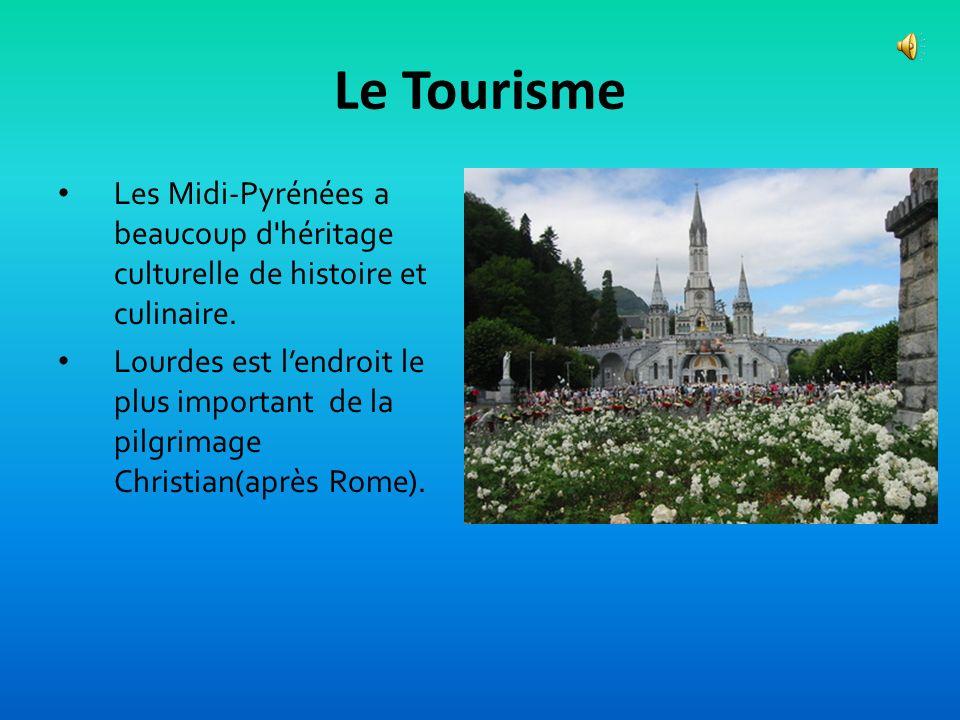 Le TourismeLes Midi-Pyrénées a beaucoup d héritage culturelle de histoire et culinaire.