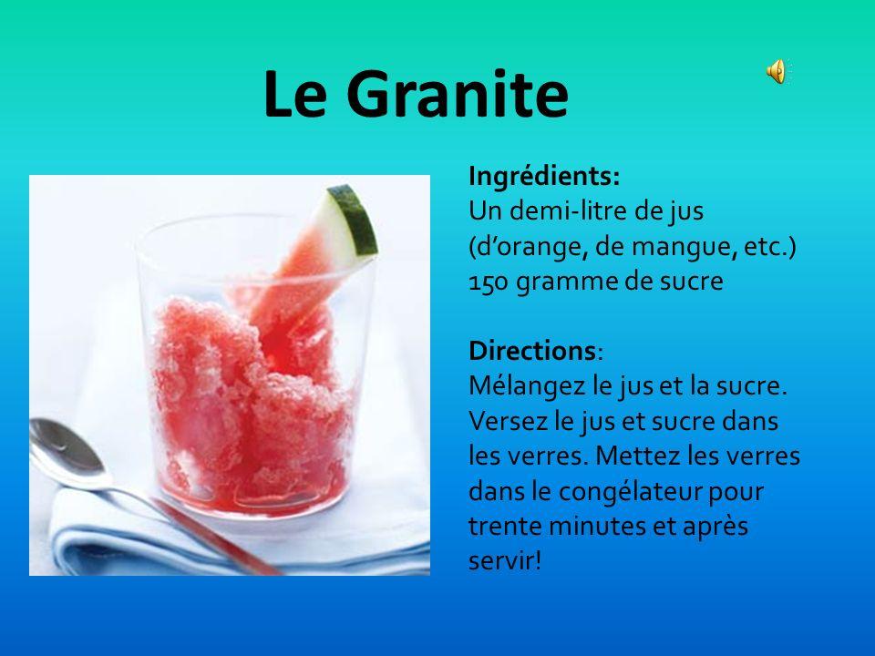 Le Granite Ingrédients: