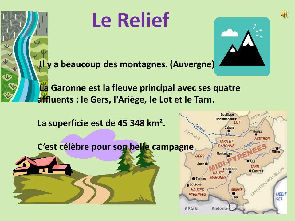 Le Relief Il y a beaucoup des montagnes. (Auvergne)
