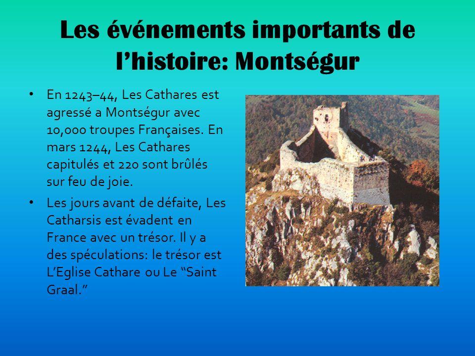 Les événements importants de l'histoire: Montségur