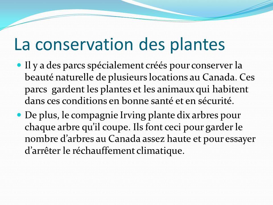 La conservation des plantes