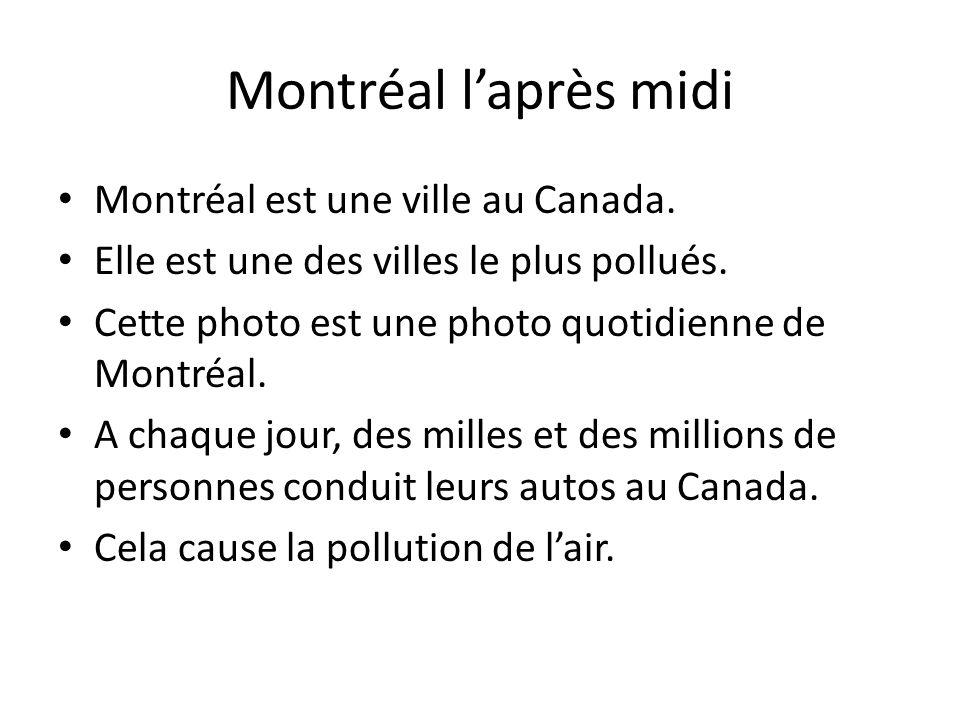 Montréal l'après midi Montréal est une ville au Canada.